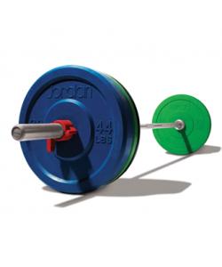 150kg Discs, Nickel Series bar, & spring collars