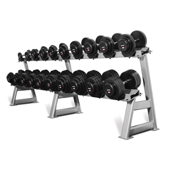 10 kettlebells set with rack