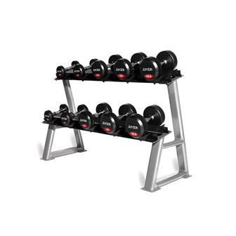 Rubber Dumbell set 2.5-25kg 10 pairs plus Rack