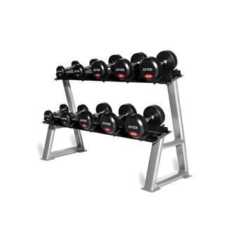 Rubber Dumbell Set - Solid Ends (2.5-50kg & Racks)