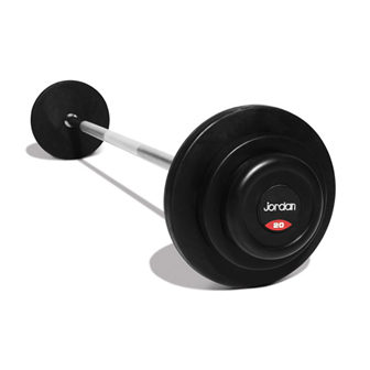 Rubber Barbell 10-45kg Set (10 straight bars)