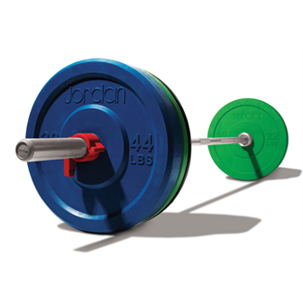 150kg Discs, Nickel Series bar, & spring collars