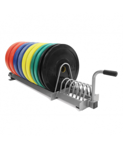 150kg Olympic Training Discs & Rack