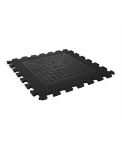 8mm Easy-Lock Black Flooring Tile (price per tile)