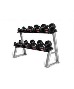 Rubber Dumbell Set - Solid Ends (2.5-50kg & Racks)