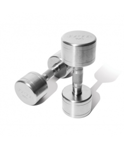 2kg - 20kg Brushed Steel Dumbells and vertical rack