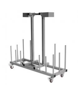 30 x Studio Barbell sets & rack (lockable wheels)